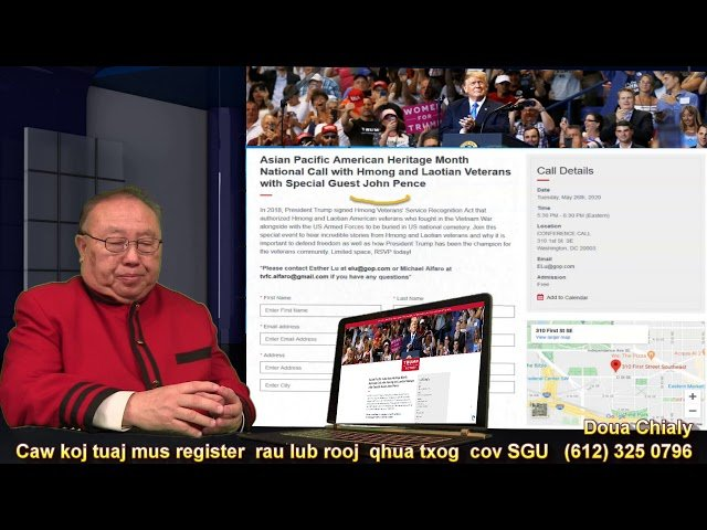 Hmong Tv  5/21/2020   Caw Hmong  thiab  Lao  mus Register mloog Asian Pacific American Heritage