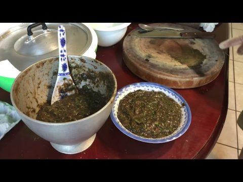 Episode 34 Hmong Cooking - Bitter Hot Sauce Fish Laap